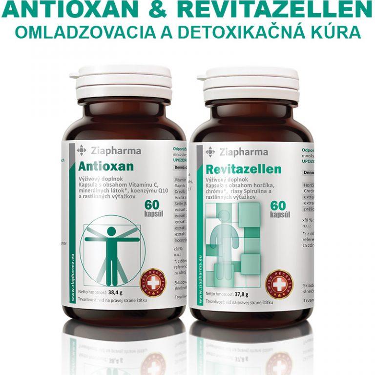Antioxan a Revitazellen Omladzovacia a detoxikačná kúra