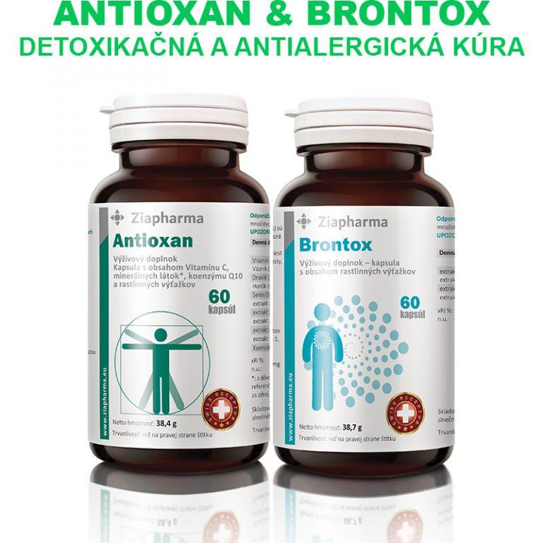 Antioxan a Brontox Detoxikačná a antialergická kúra